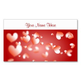 Red Heart Wallpaper Business Cards