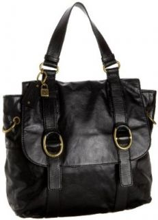 Tommy Hilfiger Sheriden Flap Tote, Black, one size Tote Handbags Shoes