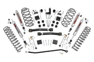 Rough Country 639P   4 inch X Series Suspension Lift System with Performance 2.2 Series Shocks for Jeep: Grand Cherokee WJ 4WD: Automotive