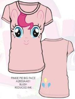 My Little Pony Pinkie Pie Big Face Junior Pink T shirt