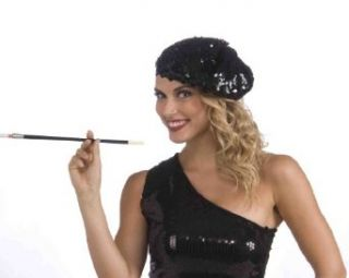 Forum Novelties Roaring 20's Sequin Flapper Beret, Black, One Size: Clothing