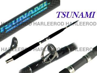 """Tsunami saltwater fishing rod Heavy Conventional 6'6"""" TSTBC 661H  Offshore Fishing Rods  Sports & Outdoors"""