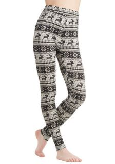 Ryu Deer Me Out Leggings in Stone  Mod Retro Vintage Pants