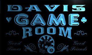 PL667 b Davis Game Room Boy Man Bar Light Bar Beer Neon Sign   Business And Store Signs