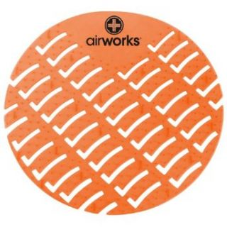 Hospeco Airworks AWUS007 BX Urinal Deodorizer Screen Mango Orange (Box of 10): Janitorial Deodorizers: Industrial & Scientific
