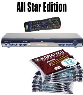 All Star Edition VocoPro DVX 668K Multi Format USB/DVD/CD+G Karaoke Player FREE Music (150.00 Value) 10 Chartbuster Discs, 12 Song Custom, feat. Walt Disney and More The 12 Song Custom Card has over 7000 songs to choose from (That's over 130 Songs)