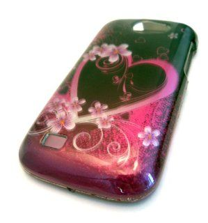 Samsung T679 Exhibit II 4G Pink Hawaii Flower Heart Cool Gloss Design 3D Case Skin Cover Protector: Cell Phones & Accessories