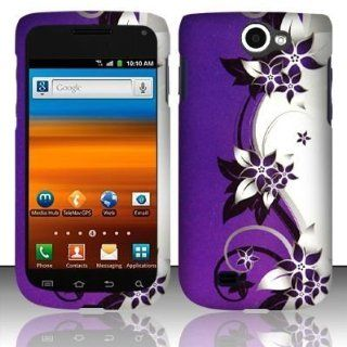 VMG Samsung Exhibit 2 4G T679 Hard Design Case Cover   Purple & Silver Vineyard Design Hard 2 Pc Plastic Snap On Case Cover for T Mobile Samsung Exhibit 2 II 4G T679 2nd Generation Cell Phone [In VANMOBILEGEAR Retail Packaging]: Everything Else
