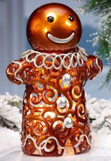 "Holiday Gingerbread Man Metal Electric Luminary Light   11"" Tall x 5"" Wide: Everything Else"