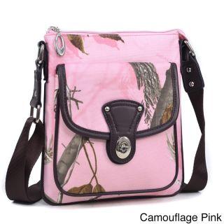Realtree Camouflage/ Pink Messenger Crossbody Bag