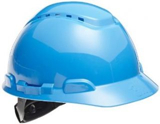 3M Hard Hat with UVicator, H 703V UV, Vented, 4 Point Ratchet Suspension, Blue Industrial & Scientific