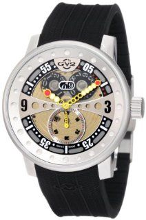 GV2 by Gevril Men's 4040R Powerball Black Rubber Sub Second Big Date Watch at  Men's Watch store.