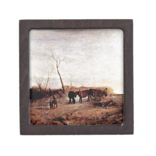 Frosty morning by Joseph Mallord William Turner Premium Jewelry Boxes