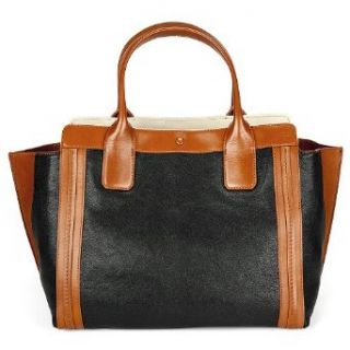 Chloe Alison Black Tan Leather Shopper Tote 3S0164 703 96J: Clothing