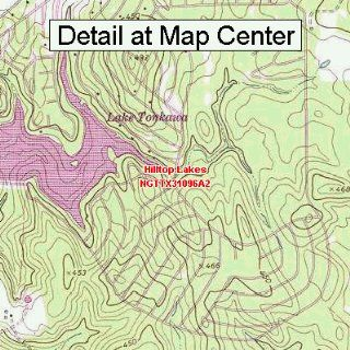 USGS Topographic Quadrangle Map   Hilltop Lakes, Texas (Folded/Waterproof)  Outdoor Recreation Topographic Maps  Sports & Outdoors