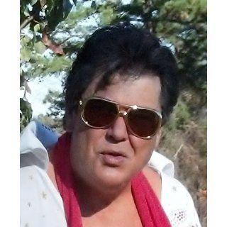 Elvis Kill Bill Sunglasses Silver Frame Smoke Lens 100 % UV Protection Brand New: Clothing