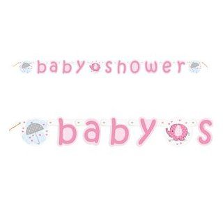 Pink Elephant Baby Shower Jointed Banner Toys & Games