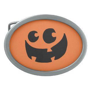 Orange Happy Halloween Pumpkin Belt Buckle