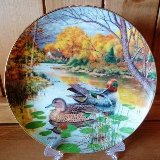 The Green Winged Teal by Bart Jerner Collector Plate  Commemorative Plates