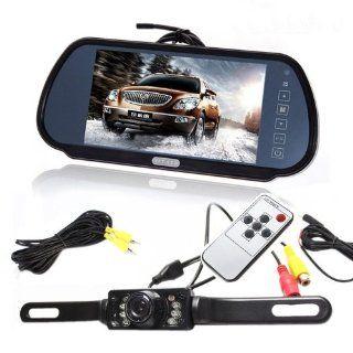 """TaoTronics� 7"""" LCD Screen Car Rear View Backup Parking Mirror Monitor + Camera Night Vision : Vehicle Backup Cameras : Car Electronics"""