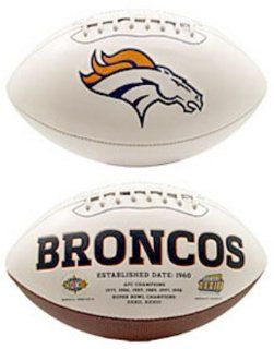 Denver Broncos Limited Edition Embroidered Signature Series Football from Fotoball  Sports & Outdoors