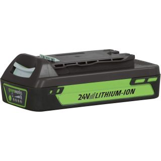 GreenWorks 24 Volt, 2Ah Lithium-Ion Battery  Power Tool Batteries