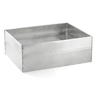 """Tablecraft RS1537 22"""" Stainless Steel Designer Tote Box Frame Kitchen & Dining"""