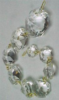 16MM Clear Glass Bead Tree Garland Silver Connectors   Christmas Garlands