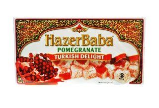 Hazer Baba Pomegranate Turkish Delight, 454g : Halva Candy : Grocery & Gourmet Food