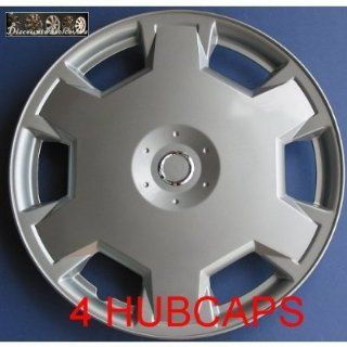 Aftermarket ABS Plastic Wheel Cover Nissan Versa 15 Inch Silver Lacquer 4 Pack: Automotive