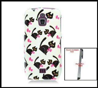 Samsung Exhibit 4G T759 (T Mobile) Snap on Glossy Hard Shell Cover Case Kitty Cats Image Design + One Free Touch Screen Stylus Pen: Cell Phones & Accessories