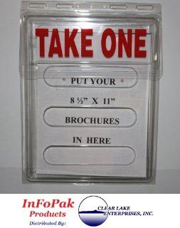 InfoPak Outdoor Brochure Holders Box of 24   By Clear Lake Enterprises, Inc.