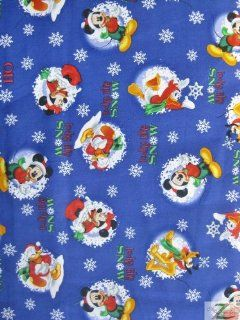 "DISNEY PRINT COTTON FABRIC   Looks Like Snow   44""/45"" WIDTH SOLD BY THE YARD (C466)"