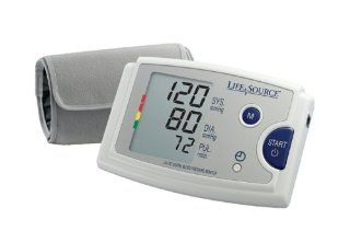 LifeSource UA 787EJ Quick Response Auto Inflate Blood Pressure Monitor with Easy Fit Cuff, Pressure Rating Indicator and AC Adapter: Health & Personal Care