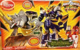 Power Rangers Jungle Fury Deluxe Rhino Steel Megazord (Disney Store Exclusive): Toys & Games