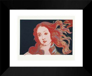"Andy Warhol Framed Art 15x18 ""Details of Renaissance Paintings (Sandro Botticelli, Birth of Venus, 1482), 1984 5/18   Prints"