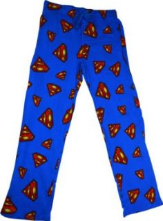 Superman Logo Print All Over Men's Blue Sleep Pant: Movie And Tv Fan Sweatshirts: Clothing