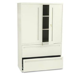 New   700 Series Lateral File w/Storage Cabinet, 42w x 19 1/4d, Putty by HON   Collectible Building Accessories