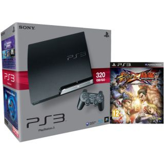 Playstation 3 PS3 Slim 320GB Console: Bundle (Includes Street Fighter X Tekken)      Games Consoles