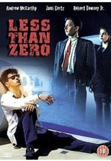 Less Than Zero: Andrew McCarthy, Jami Gertz, Robert Downey Jr., James Spader, Tony Bill, Nicholas Pryor, Donna Mitchell, Michael Bowen, Sarah Buxton, Lisanne Falk, Michael Greene, Neith Hunter, Edward Lachman, Marek Kanievska, Michael Tronick, Jon Avnet, J