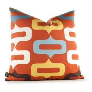 Inhabit Aequorea Smile Synthetic Pillow SMLLMxxP Size: 18 x 18, Color: Rust