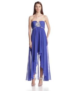 Hailey by Adrianna Papell Women's Strapless Hi Low Gown, Royal, 10 at  Women�s Clothing store: