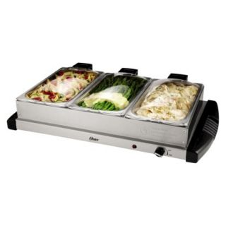 Oster 3 Bin Hinged Buffet Server