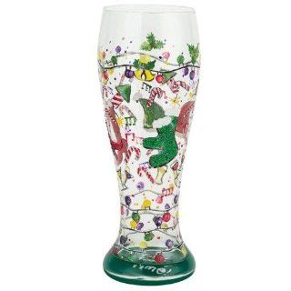 Lolita Holiday Party Pilsner   Hand Painted Gift Boxed PIL 5529C 13   Beer Glasses