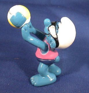 The Smurfs Smurf Playing Volleyball Pvc Figure: Toys & Games