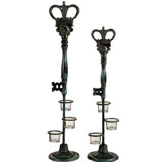 Shop Cast Iron Key Style Candle Holder Blue Set Of 2 at the  Home D�cor Store. Find the latest styles with the lowest prices from FantasticDecor