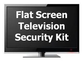 USecure Flat Panel Television Lock Down Security Kit, Plasma, LCD, LED Electronics