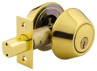 Yale 840R C3 4 Security Barricade Double Cylinder Deadbolt, Polished Brass   Door Dead Bolts