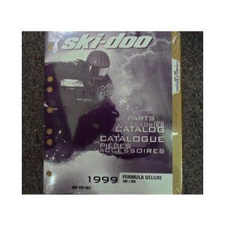 1999 Ski Doo Formula Deluxe 380 500 Parts Accessories Catalog Service Manual OEM: ski doo: Books