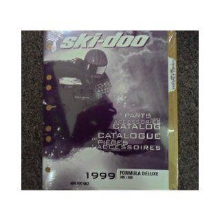 1999 Ski Doo Formula Deluxe 380 500 Parts Accessories Catalog Service Manual OEM ski doo Books